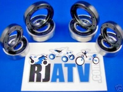 Both Yamaha YFM350 Raptor Front Wheel Bearings Seal Kit 2004-2013