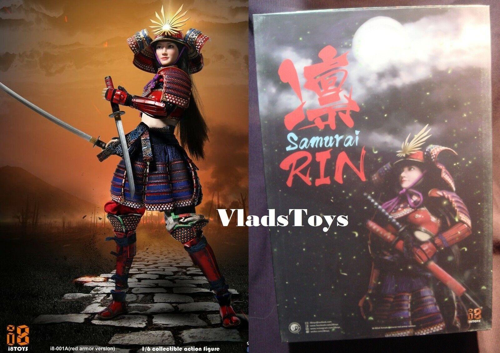 De Japón Hembra Samurai Rin Rojo Armor Versión 1 6 i8 Juguetes i8-001A USA en