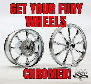 Get Your Honda Fury Wheels Rims Chrome Plated By Sport