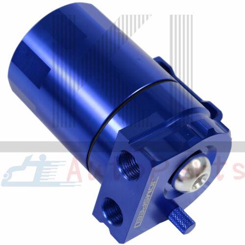 Blue Can Tank /& Filter Universal Aluminum Cylinder Oil Catch Reservoir Breather