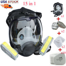 15 In 1 Full Face Gas Mask Painting Spraying For 6800 Facepiece Respirator Us