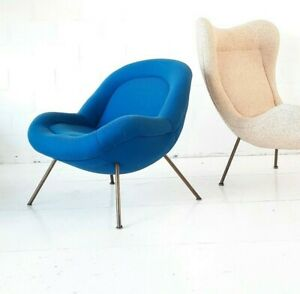 FRITZ NETH EGG LOW CLUB CHAIR SESSEL 1950s 60s AMORPH DESIGN CORRECTA GERMANY