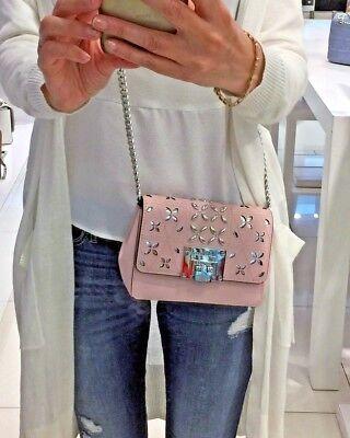 898e88b46360 Michael Kors Tina Crossbody Bag Clutch Small Convertible Leather Blossom