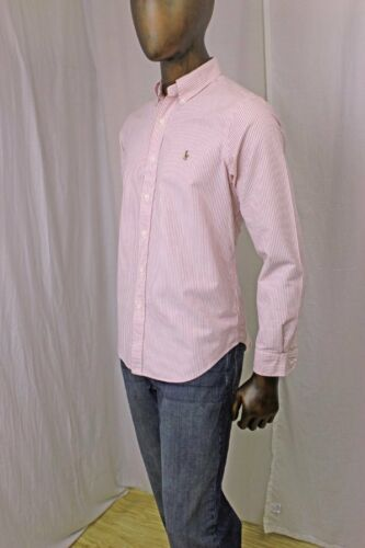 Ralph Lauren Long Sleeve Oxford Red And White Stripes~Mulit-Color Pony~NWT~
