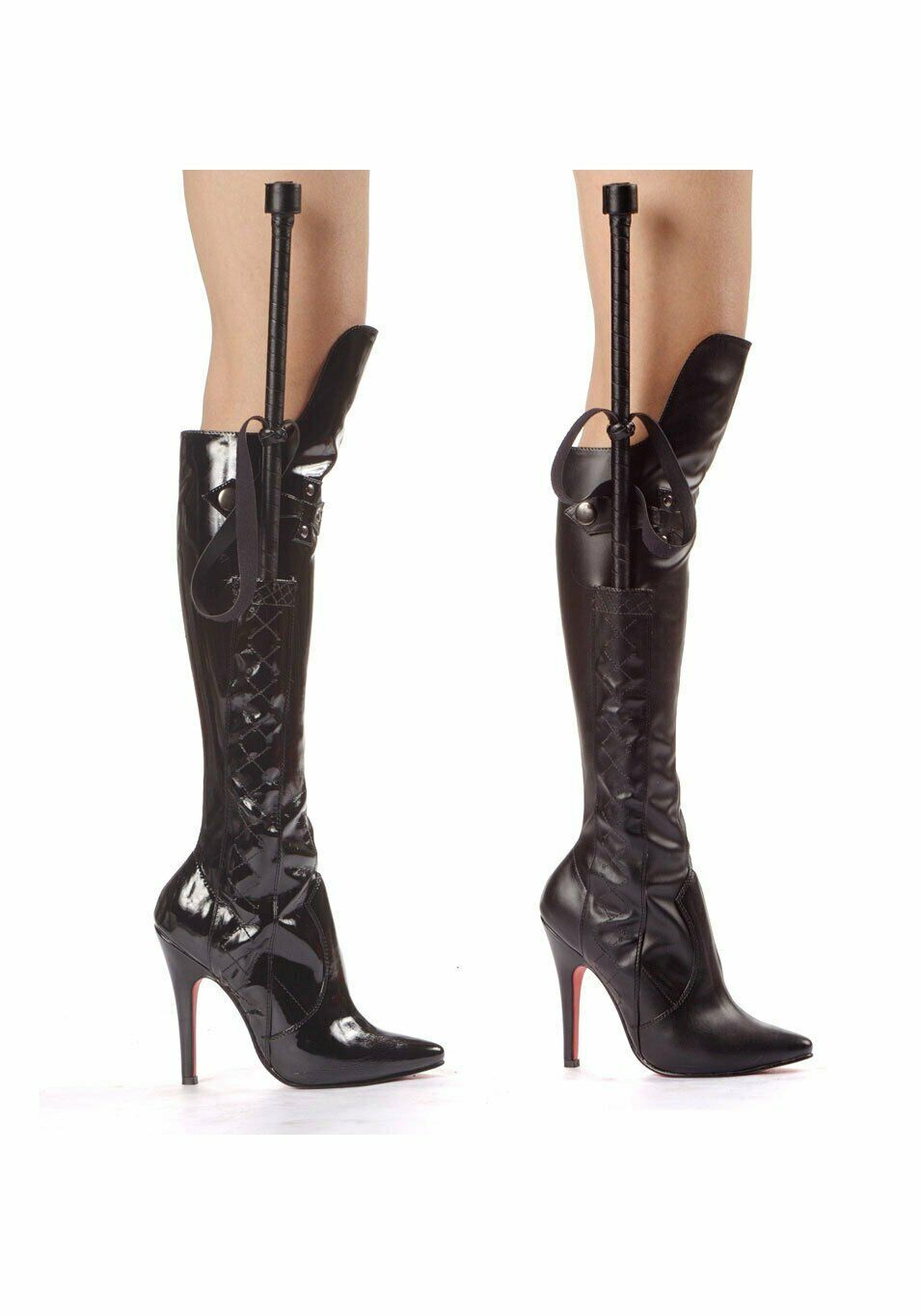Ellie shoes 511-SADIE Women's 5 Inch Heel Knee Boot With Whip And Knee Guard
