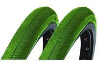 Pair Green 700x23c Dsi Tyres For Racing Road Bike Sports Racer Semi-slick Sri-89