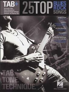 25 Top Blues Rock Chansons Tab + Musique Livre Libre Zz Top Hendrix Crème Trower Beck-afficher Le Titre D'origine