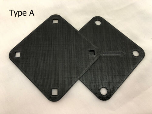 3D Printed Black Bass Drum Plate for Vintage Tama Superstar-Style Mount Type A