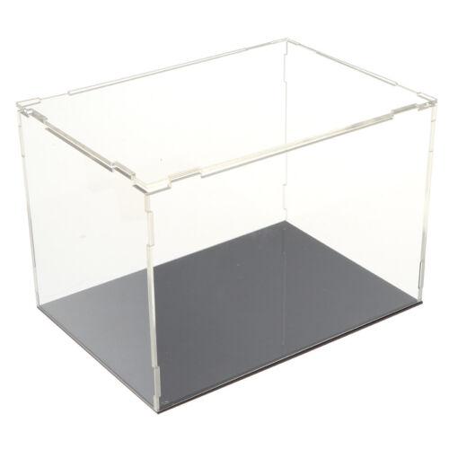 Durchsichtig Acryl Vitrine Display Box Cube Schutz Modell Puppe und