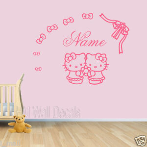 Good Image Is Loading Customise Name Amp Hello Kitty Wall Decal For