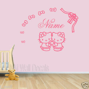 Image Is Loading Customise Name Amp Hello Kitty Wall Decal For