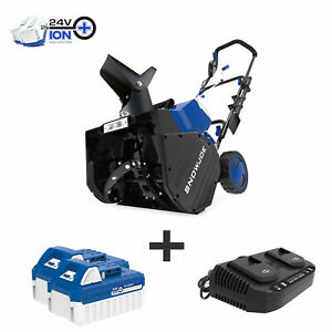 Snow Joe 48-Volt iON+ Cordless Snow Blower | 18-Inch | W/ Batteries & Charger