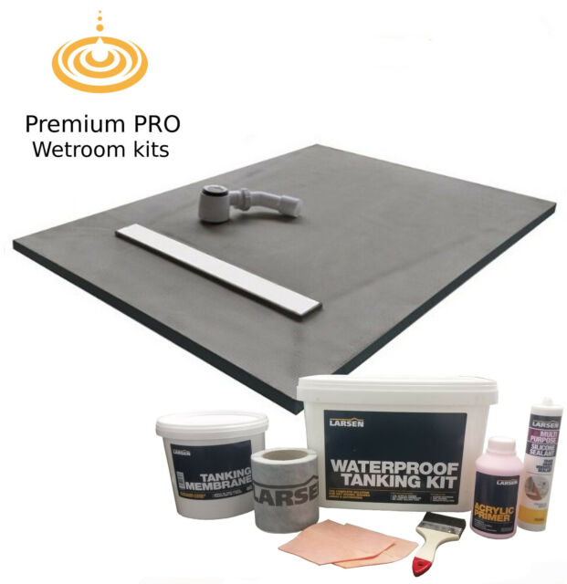 Wet room /& wetroom kit shower tray /& Instarmac Kit All Linear sizes