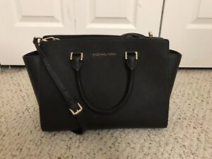 Image Is Loading Pre Owned Michael By Kors Large Black