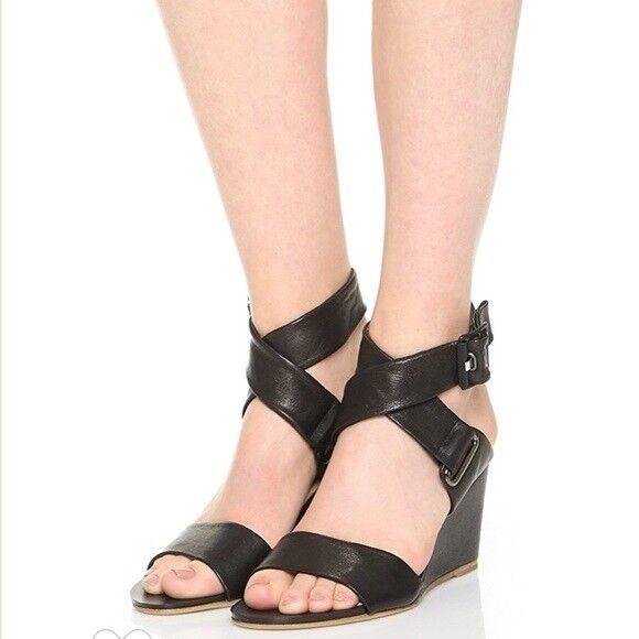 Rag Cuero & Bone Damien Cuero Rag Sandalia De Cuña Zapato Mujer 9 39.5 Italia  495 Nuevo 229db2