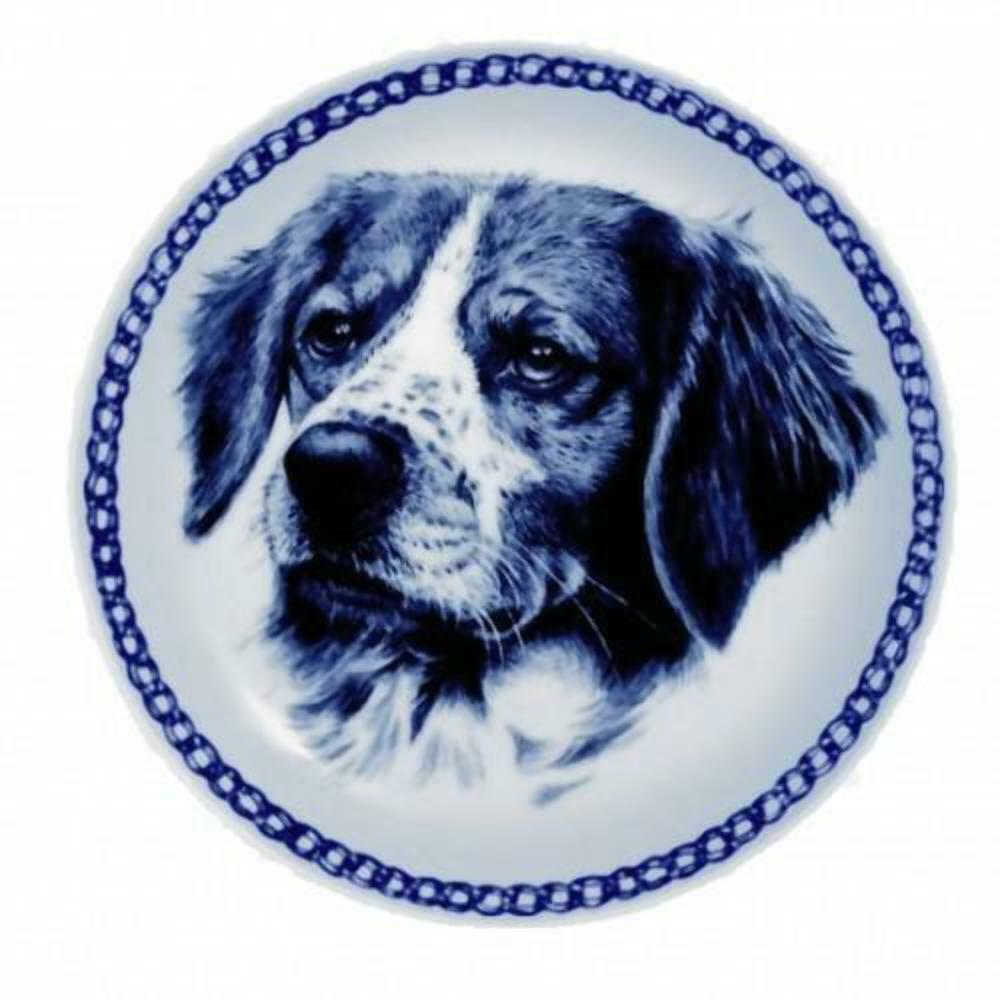 Brittany  Dog Plate made in Denmark from the finest European Porcelain