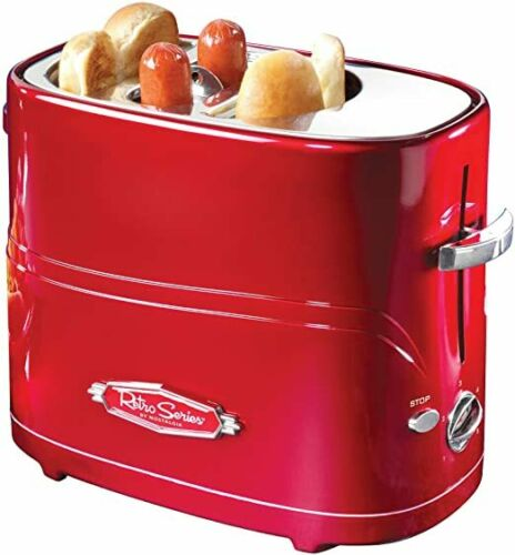 Red Hdt600retrored Retro Series Pop-Up Hot Dog Toaster
