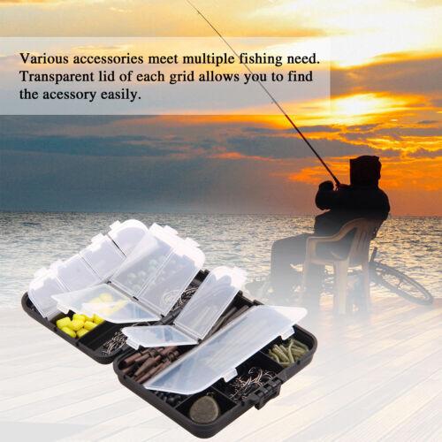 296Pcs Carp Fishing Tackle Kit Carp Swivels Hooks Sinkers Lead Clip Sleeve Beads