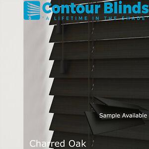 NEW Made to Measure Faux Wood Light Oak Venetian Window Blind Plastic Slats