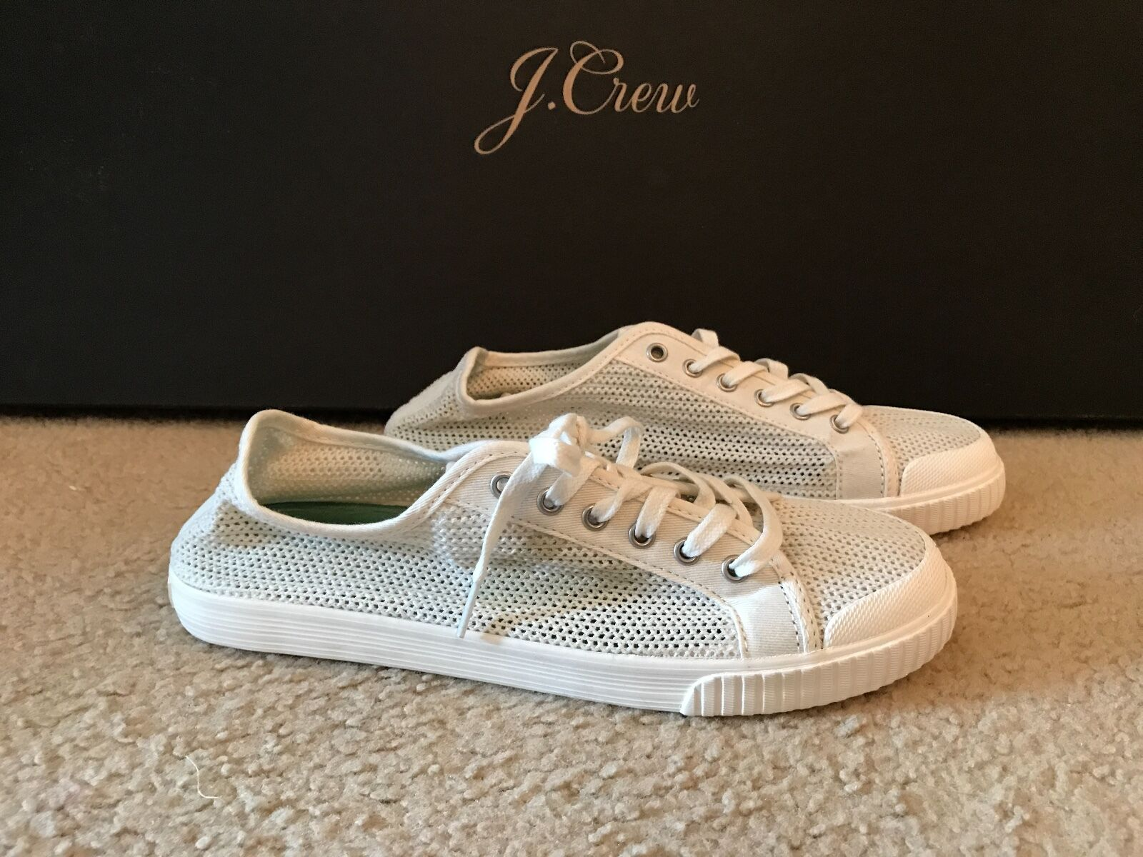 TRETORN FOR JCREW TOURNAMENT NET SNEAKERS SIZE 9,5M WEISS C2124