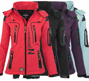 Details zu Geographical Norway Tassion Damen Softshell Funktions Outdoor Regen Jacke Sport