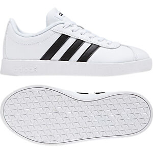 Adidas Boys Black VL Court 2.0 Tennis Shoes