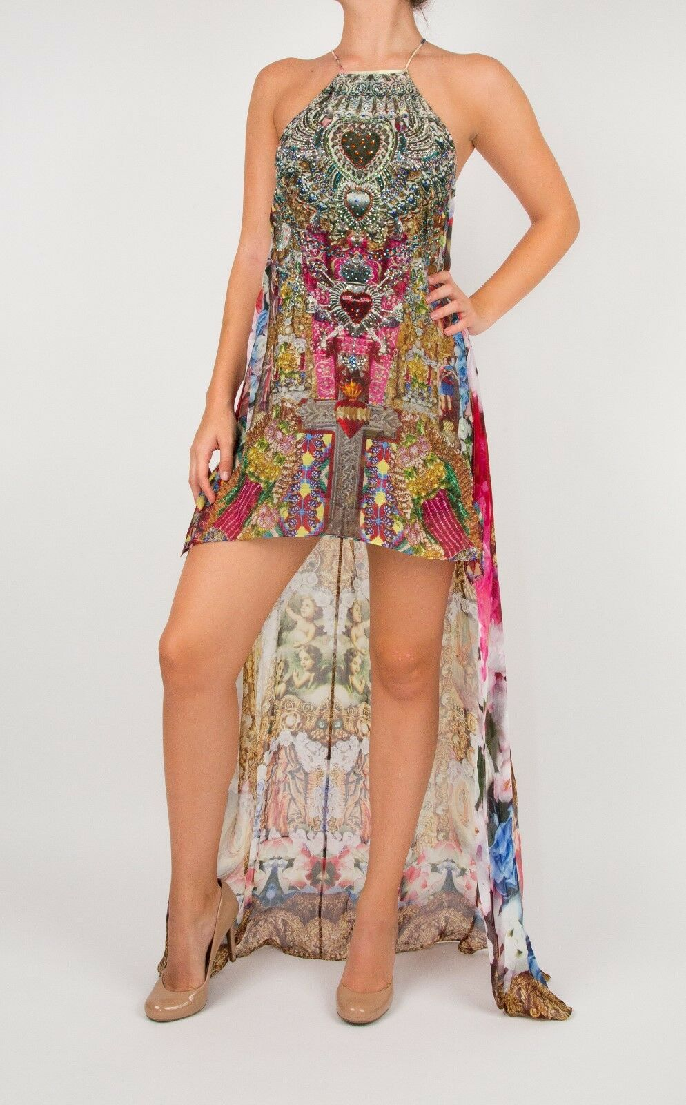 Camilla Franks 'Alerting Perception' Short Sheer Overlay Dress