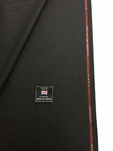 DORMEUIL-3-5-Metre-Suit-Length-Black-Super-160s-Wool-Suit-Fabric-260g