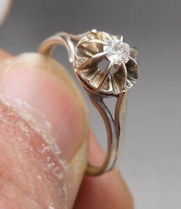 80f8b14c666 Ancienne Bague en or blanc 18 k sertie d un diamant ( solitaire )