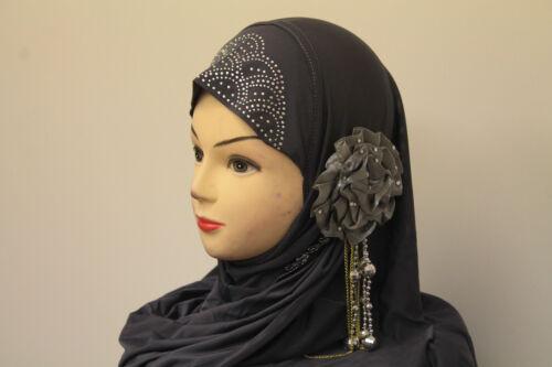 Onorevoli donne bellissime One Piece musulmano islamico l/'hijab fiore e Diamonte SCIARPA