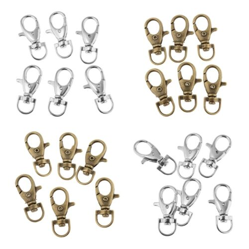 60x SilverBronze Alloy Swivel Clasp Lanyard Hook for Craft Jewlery Making