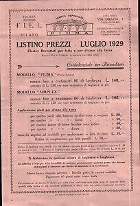 Listino Materassi.Voltantino Pubblicitario Listino Prezzi F I E L Milano