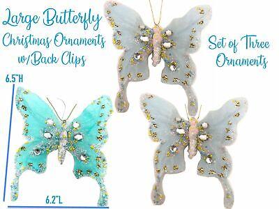 Cherub Butterfly Victorian Christmas Ornament