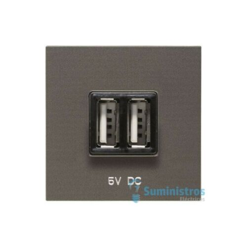 Cargador doble USB Niessen N2285 AN serie Zenit color Antracita