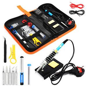 60W-Soldering-Iron-Kit-Electronics-Welding-Irons-Solder-Tools-Adjustable-Temp-UK