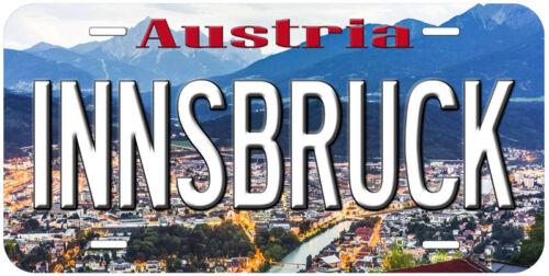 Innsbruck Austria Aluminum Novelty Car Auto License Plate
