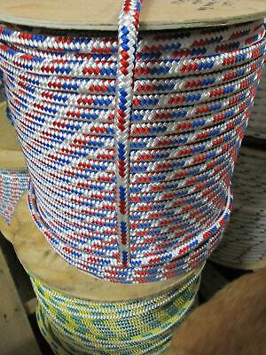 "1//4/"" X 100/' Sail,Halyard Line Jibsheets double braid rope Royal Blue 2100 lb"