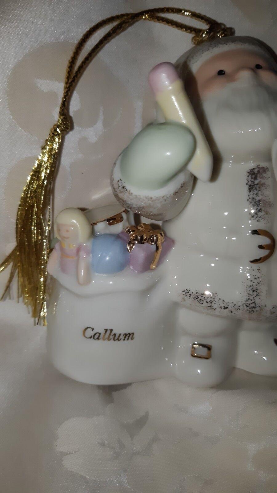 VINTAGE Lenox PORCELLANA personalizzato  Callum  BABBO NATALE NATALE NATALE ADDOBBO e5bf2f