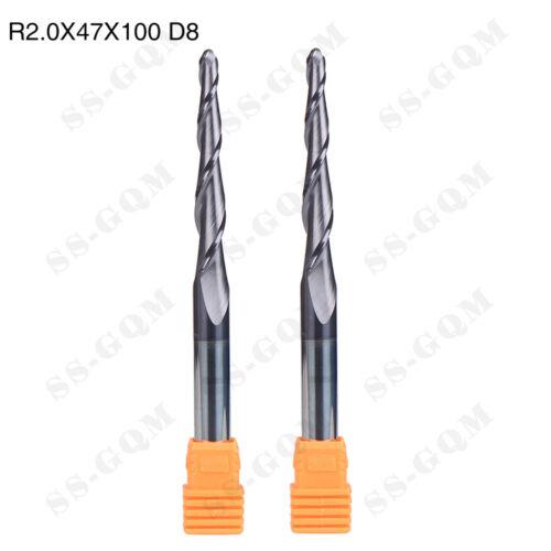 2 Pcs High Quality Carbide Drill End Mill Cutting Tool Shank Dia 8mm Cavity Tool