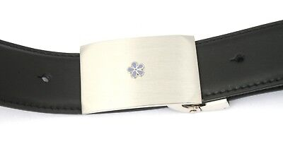 KüHn Masonic Flower Belt And Buckle Set Black Leather Ideal Masonic Gift 234