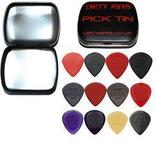 12 Dunlop Jazz III 3 Guitar Picks Variety - In A Handy Pick Tin