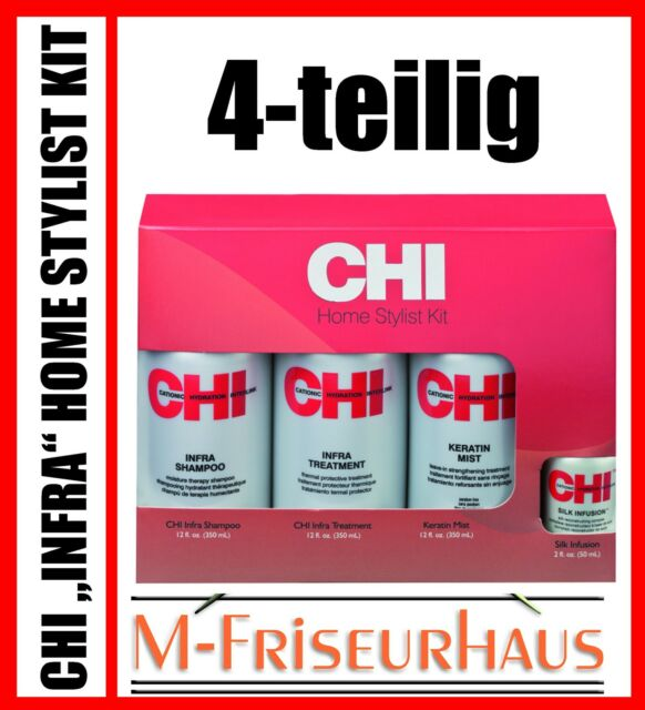 CHI Set Infra je 350ml Shampoo Keratin Mist Treatment + Silk Infusion 50m Farouk