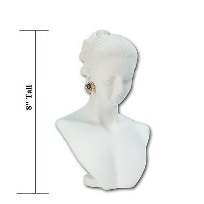 NECKLACE EARRING COMBINATION COUNTERTOP DISPLAY FIGURINE BUST MANNEQUIN <<DEAL>>