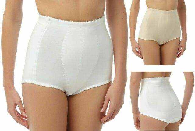 High Waisted Briefs Shapewear hold in Fat Slimming Bum Lift White Nude Black