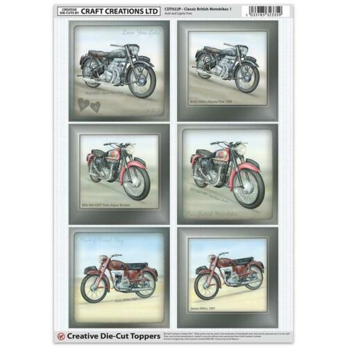 Creación de arte clásico británico Moto TOPPERS PARA TARJETAS /& Craft