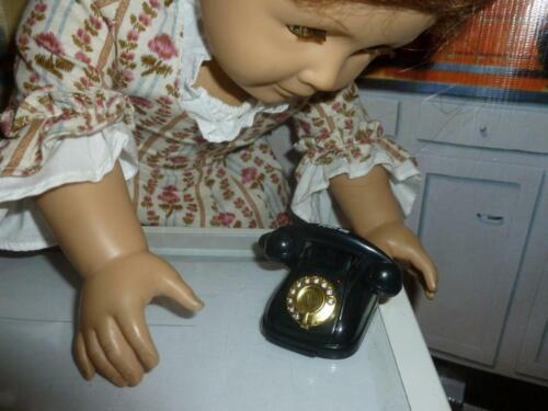 AMERICAN GIRL DOLL SIZE  ACCESSORIES MINIATURE BLACK TELEPHONE LIGHTS /& SOUNDS