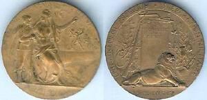 Medaille-de-table-Prix-de-tir-et-gymnastique-d-37mm-bronze-GRADHOMME