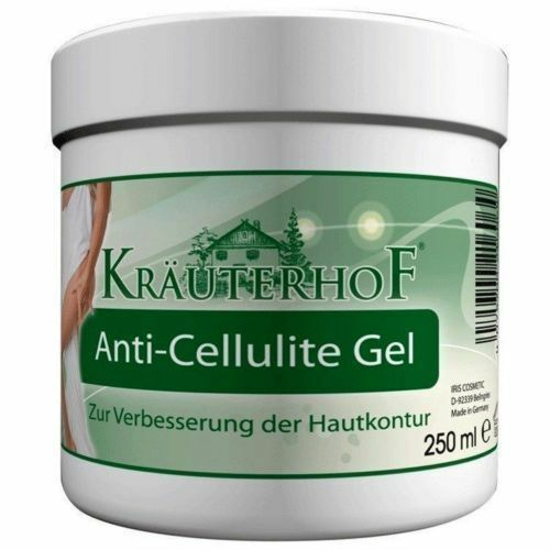 Krauterhof Anti Cellulite Gel-with Caffeine, Carnitine - Rosemary Extract 250 ml
