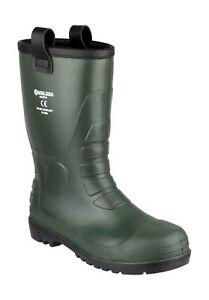 Amblers-FS97-PVC-SENORAS-para-Hombre-Rigger-Seguridad-Wellingtons-Verde