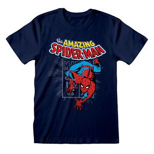 Spider-Man-T-Shirt-Official-The-Amazing-Marvel-Spidey-Superhero-NEW-S-M-L-XL-XXL
